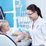 Child patient at the dentist
